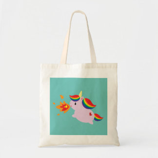 Fire-Breathing Unicorn Tote Bag