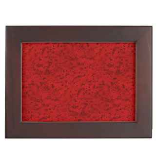Fire Brick Red Cork Look Wood Grain Memory Box