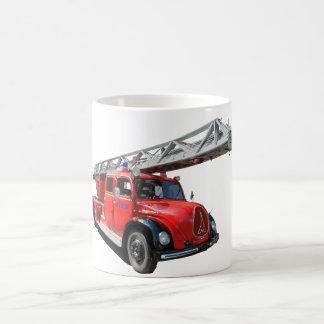 Fire-brigade turntable ladder car coffee mug