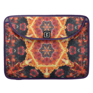 Fire Bubbles Mandala MacBook Pro Sleeves