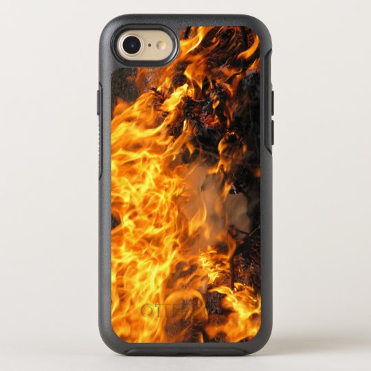Fire Burning Photo OtterBox Symmetry iPhone 8/7 Case
