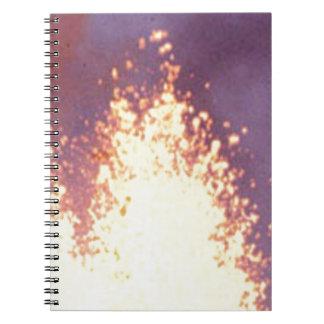 fire burst notebook