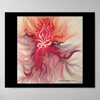 Fire Burst Poster