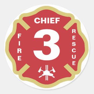 Fire Chief Badge Sticker