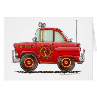 Fire Chief Car Firefighter Fireman Card