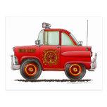 Fire Chief Car Firefighter Fireman Postcard