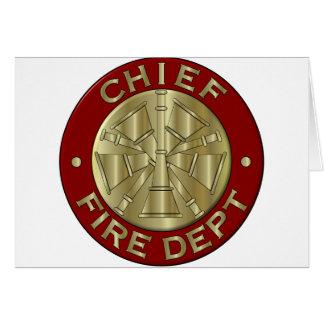 Fire Chief card... Card