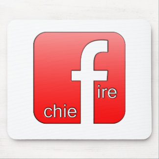 Fire Chief Facebook Logo Unique Gift Mouse Pad