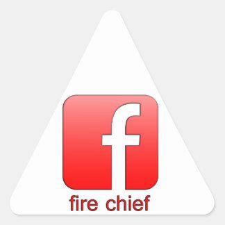 Fire Chief Facebook Logo Unique Gift Template Triangle Sticker