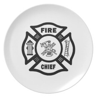 Fire Chief Party Plates