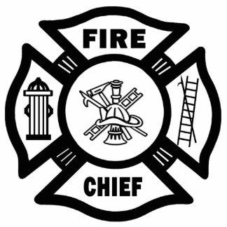 Fire Chief Photo Sculpture Ornament