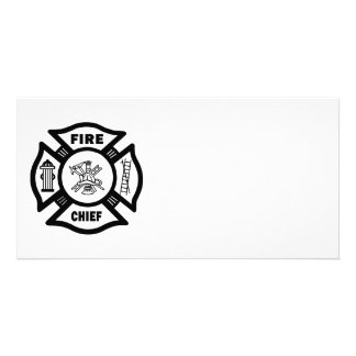 Fire Chief Photo Greeting Card