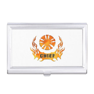 Fire Chiefs Flames Business Card Holders