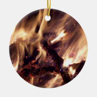 Fire Christmas Tree Ornament