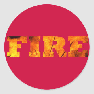 Fire Classic Round Sticker