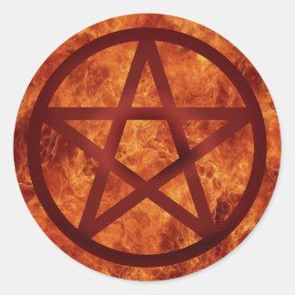 """Fire"" Classic Round Sticker"