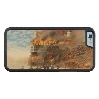 Fire - Cliffside fire 1907 Carved Maple iPhone 6 Bumper Case