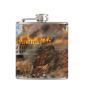 Fire - Cliffside fire 1907 Hip Flask