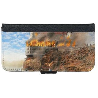Fire - Cliffside fire 1907 iPhone 6 Wallet Case