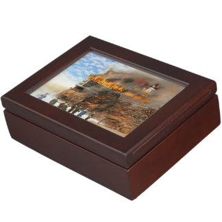 Fire - Cliffside fire 1907 Keepsake Box