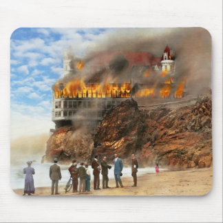 Fire - Cliffside fire 1907 Mouse Pad