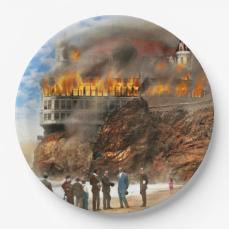 Fire - Cliffside fire 1907 Paper Plate