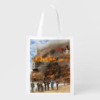 Fire - Cliffside fire 1907 Reusable Grocery Bag