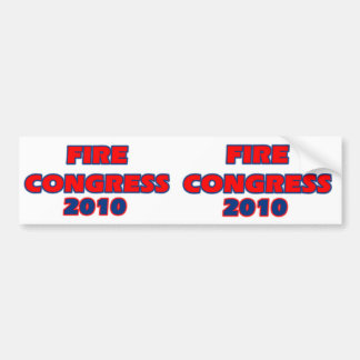 FIRE CONGRESS 2010 BUMPER STICKER