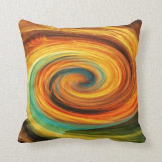 """""""Fire Core """" """"Green Yellow Aqua Throw pillow"""