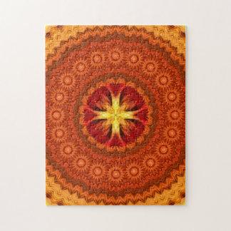 Fire Cross Mandala Jigsaw Puzzle