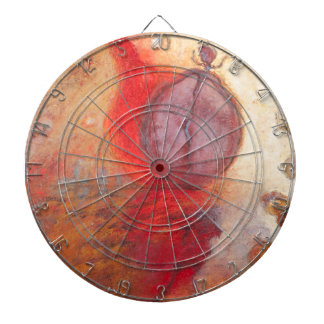 Fire Dance abstract oil painting Dartboard