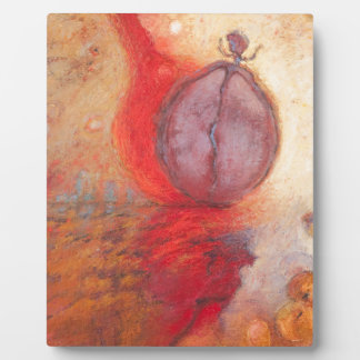 Fire Dance abstract oil painting Plaque