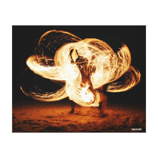 Fire Dancer Canvas Print