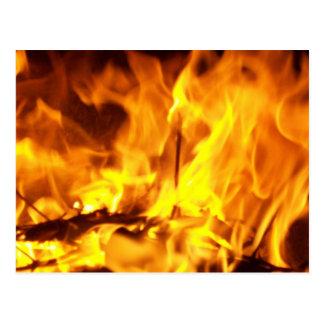 Fire Dancing Postcard