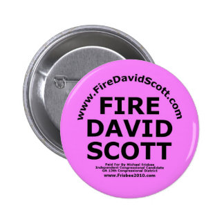 Fire David Scott 2 Inch Round Button