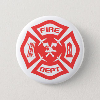 Fire Department 2 Inch Round Button