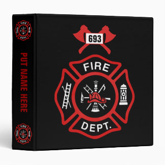 Fire Department Badge Binders