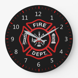 Fire Department Badge Large Clock