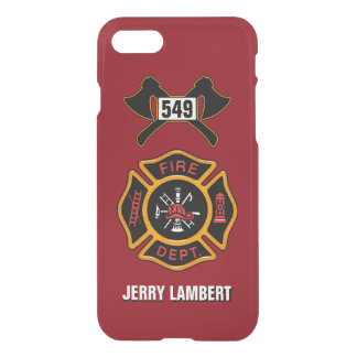 Fire Department Badge Name Template iPhone 7 Case