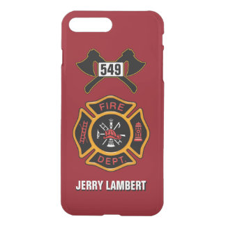Fire Department Badge Name Template iPhone 7 Plus Case