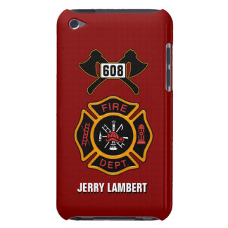 Fire Department Badge Name Template iPod Touch Covers