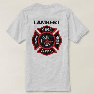 Fire Department Badge w/ Name Tshirt