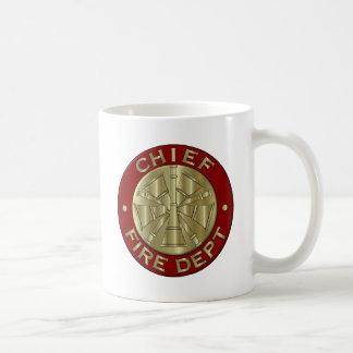 Fire Department Chief Brass Symbol Coffee Mug
