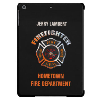 Fire Department Chrome Name Template iPad Air Covers