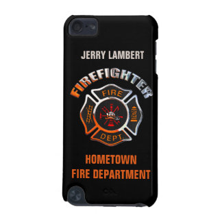 Fire Department Chrome Name Template iPod Touch 5G Case
