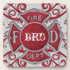 Fire Department Custom Monogram Coaster