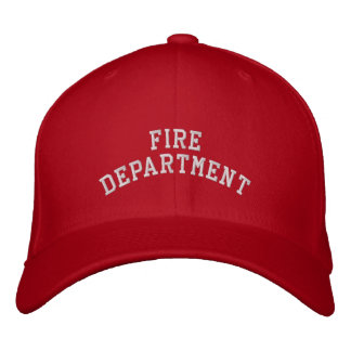 FIRE DEPARTMENT EMBROIDERED HATS