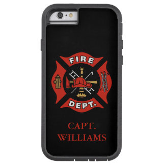 Fire Department Fire Fighter Customized Name Tough Xtreme iPhone 6 Case