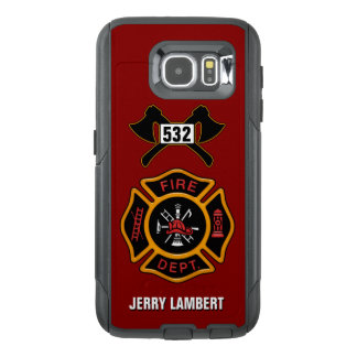 Fire Department Firefighter Name Template OtterBox Samsung Galaxy S6 Case