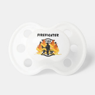 Fire Department Flames Baby Pacifier